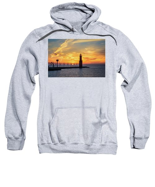Sweatshirt featuring the photograph Serious Sunrise by Bill Pevlor