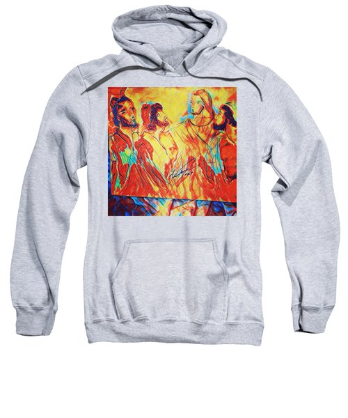 Shadrach, Meshach And Abednego In The Fire With Jesus Sweatshirt