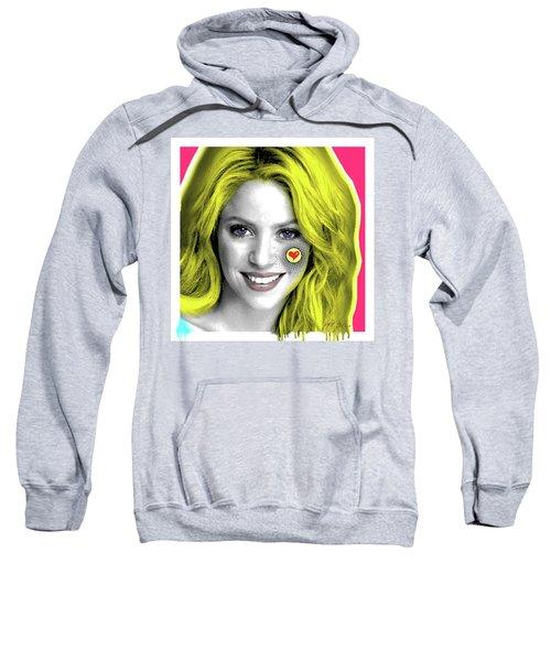 Shakira, Pop Art, Pop Art, Portrait, Contemporary Art On Canvas, Famous Celebrities Sweatshirt by Dr Eight Love