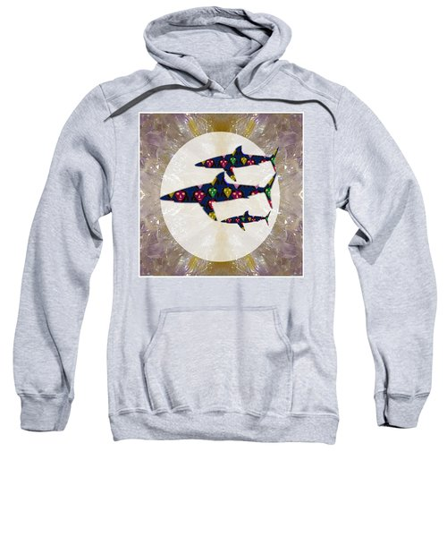 Shark Fish Dangerous Painted Cartoon Face Link For Download Option Below Personal N Commercial Uses Sweatshirt