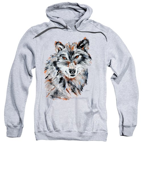 She Wolf - Animal Art By Valentina Miletic Sweatshirt by Valentina Miletic