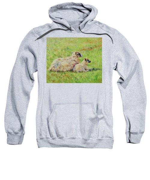 Sheep In The Spring Time,la Vie Est Belle Sweatshirt