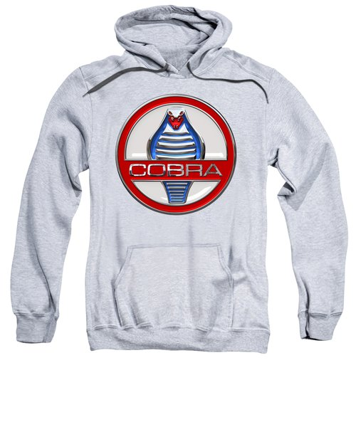 Shelby Ac Cobra - Original 3d Badge On Blue And White Sweatshirt