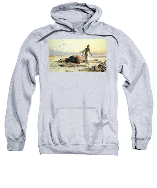 Shipwreck In The Desert Sweatshirt by Carl Haag
