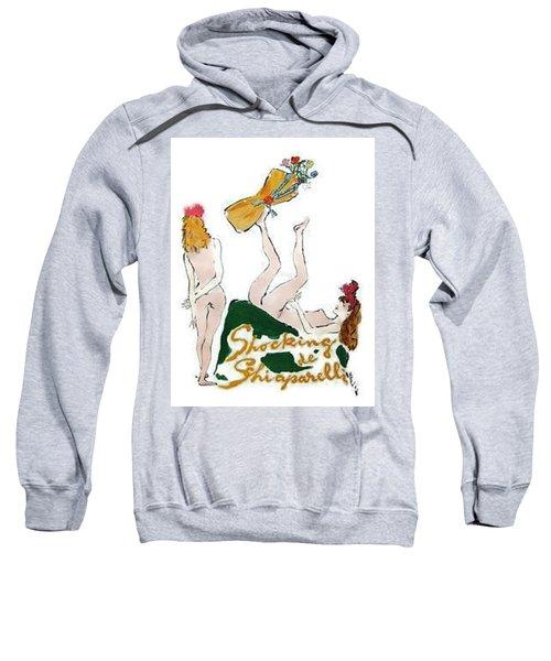 Sweatshirt featuring the digital art Shocked Not by ReInVintaged