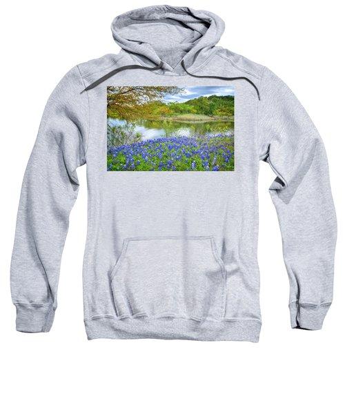 Shoreline Bluebonnets At Lake Travis Sweatshirt