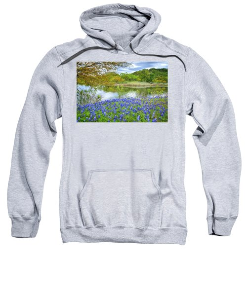 Shoreline Bluebonnets At Lake Travis Sweatshirt