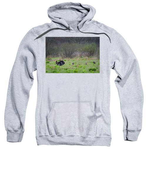 Sweatshirt featuring the photograph Showing Off by Bill Wakeley