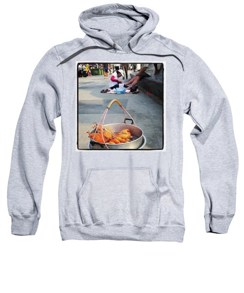 Sweatshirt featuring the photograph Shrimping And Crabbing On The by Mr Photojimsf