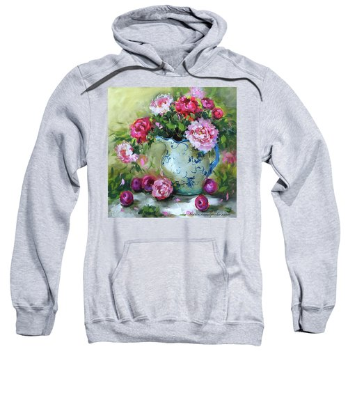 Shy Plums And Pink Peonies Sweatshirt