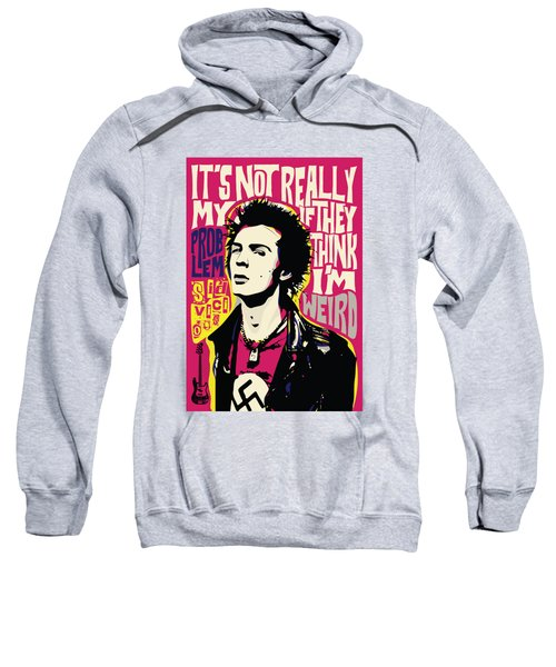 Sid Vicious Pop Art Quote Punk Portrait Sweatshirt
