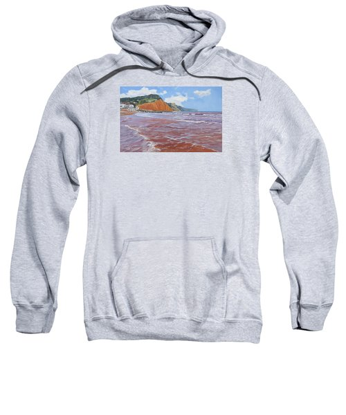 Sweatshirt featuring the painting Sidmouth by Lawrence Dyer