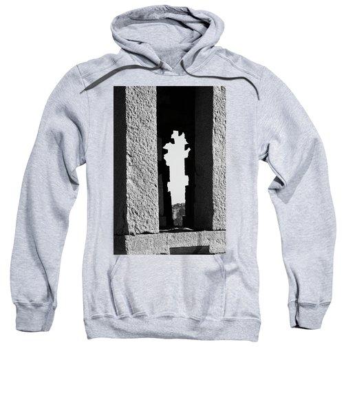 Sweatshirt featuring the photograph Silhouette Of Pillars, Hampi, 2017 by Hitendra SINKAR
