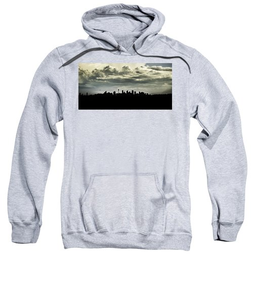 Sweatshirt featuring the photograph Silhouette Of Sydney by Chris Cousins