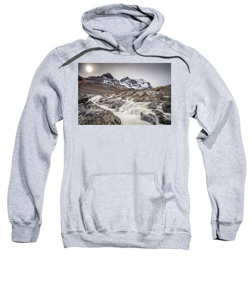 Silky Melt Water Of Athabasca Glacier Sweatshirt