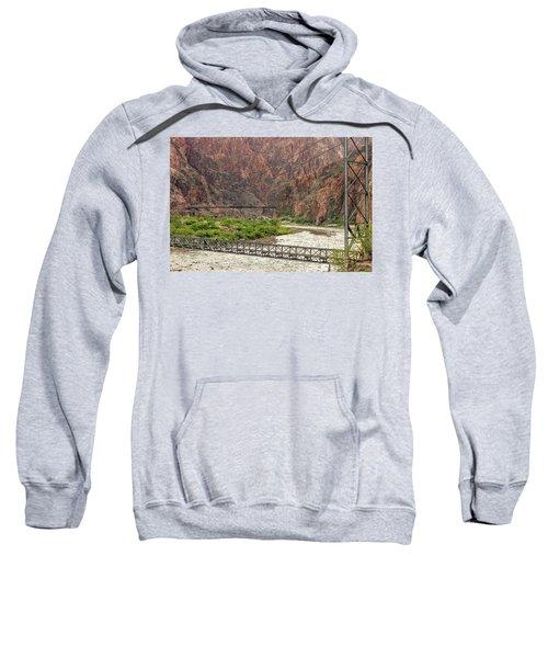 Silver And Black Bridges Over The Colorado, Grand Canyon Sweatshirt