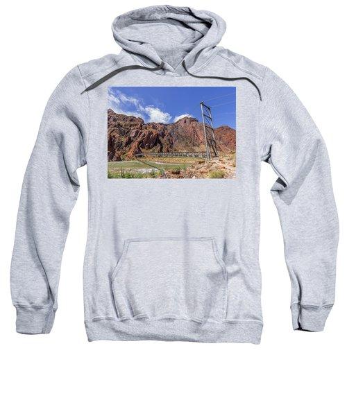Silver Bridge Over Colorado River - At The Bright Angel Trail Sweatshirt