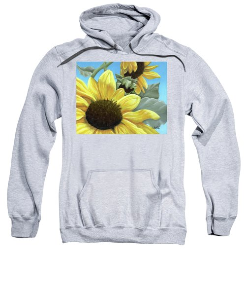 Silver Leaf Sunflower Growing To The Sun Sweatshirt