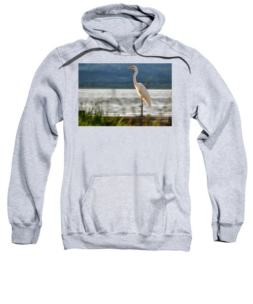 Singing White Egret Sweatshirt