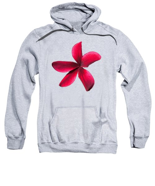 Single Red Plumeria Sweatshirt