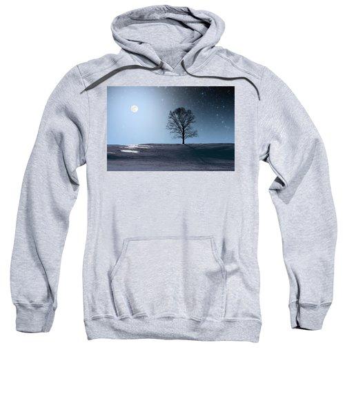 Single Tree In Moonlight Sweatshirt