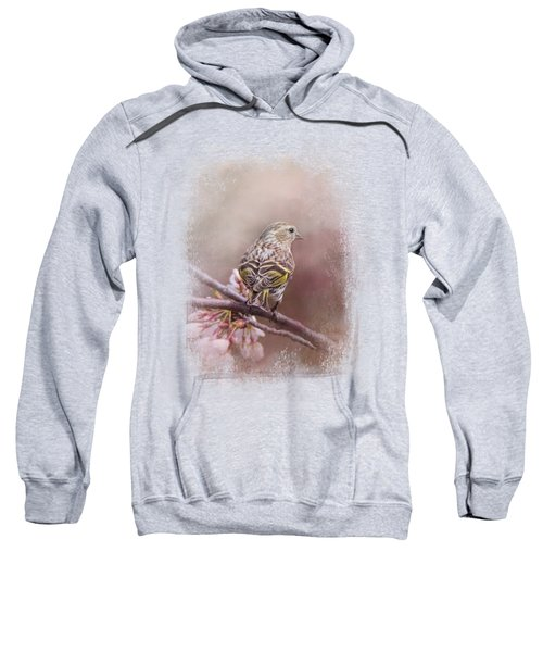 Siskin In The Garden Sweatshirt by Jai Johnson