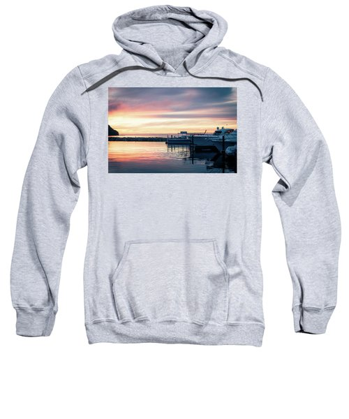 Sister Bay Marina At Sunset Sweatshirt