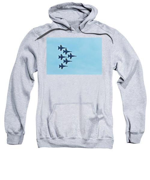 Six Blue Angels In The Clear Blue Sky Sweatshirt