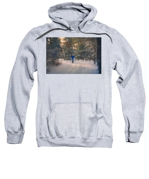 Skiing Borderland In Afternoon Light Sweatshirt