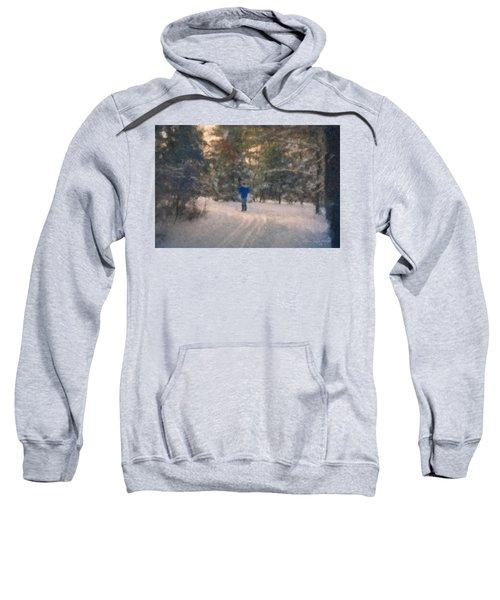 Skiing Borderland In Afternoon Light Sweatshirt