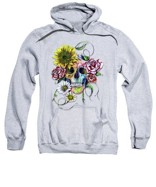 Skull And Flowers Sweatshirt by Isabel Salvador