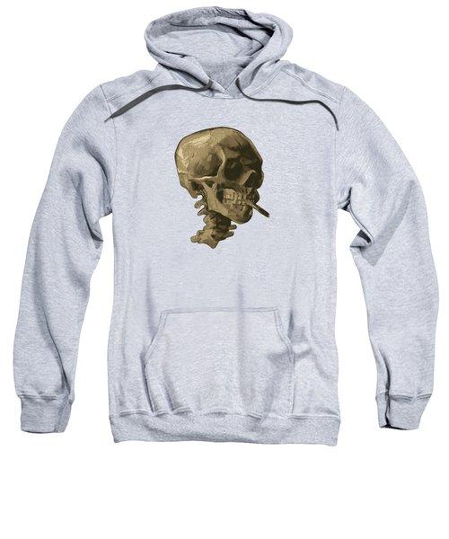 Skull Of A Skeleton With Burning Cigarette - Vincent Van Gogh Sweatshirt