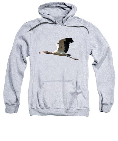 Sky Stork Digital Art .png Sweatshirt