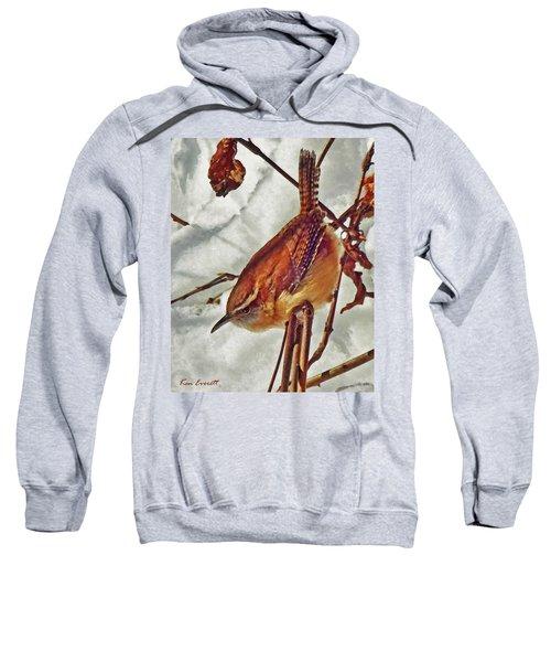 Slim Pickens, Carolina Wren Sweatshirt by Ken Everett