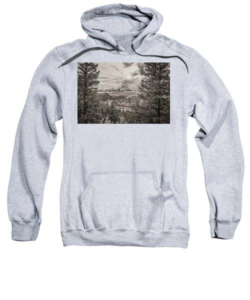 Snake River Overlook Grand Teton Monochromatic Sweatshirt
