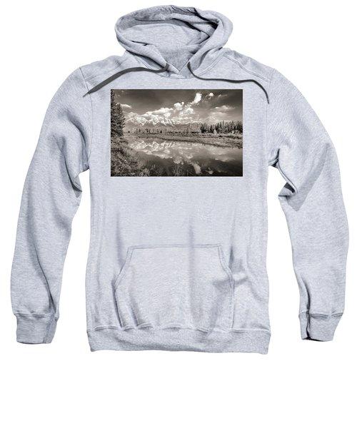 Snake River Reflection Grand Teton Monochromatic Sweatshirt