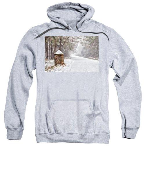Snow Covered Brick Pillar Sweatshirt