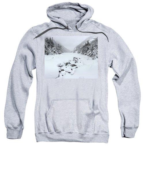 Snow Covered Lake Sweatshirt