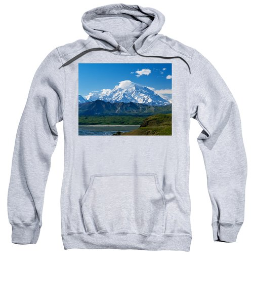 Snow-covered Mount Mckinley, Blue Sky Sweatshirt