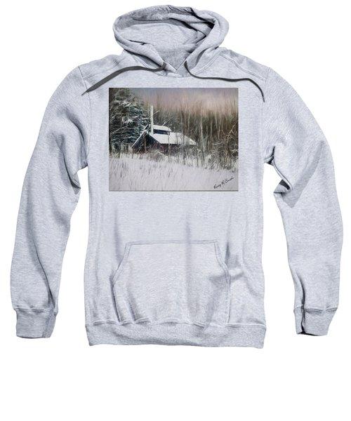 Snow Covered Vermont Sugar Shack.  Sweatshirt
