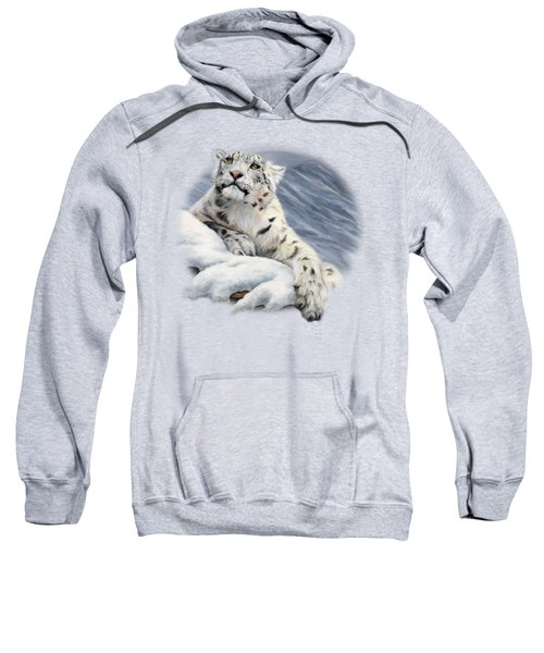 Snow Leopard Sweatshirt by Lucie Bilodeau