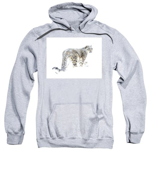 Snow Leopard On White Sweatshirt