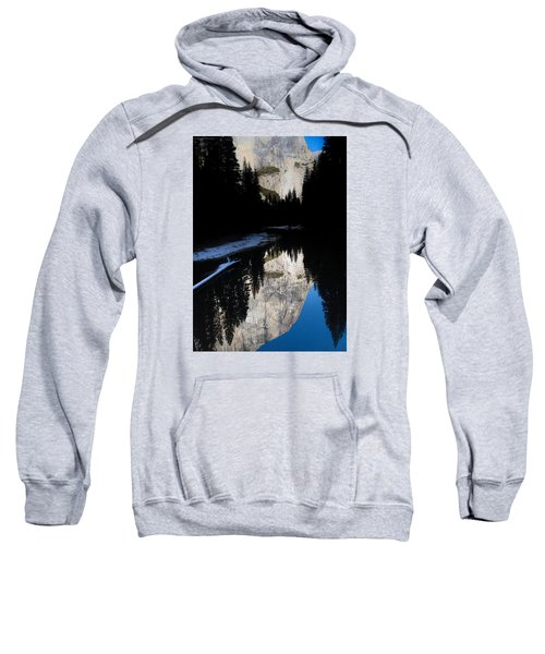 Sweatshirt featuring the photograph Snow Sneaks In by Lora Lee Chapman