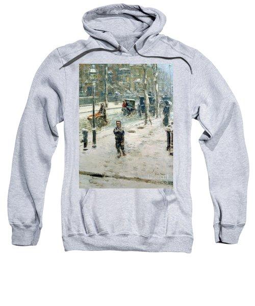 Snow Storm On Fifth Avenue Sweatshirt
