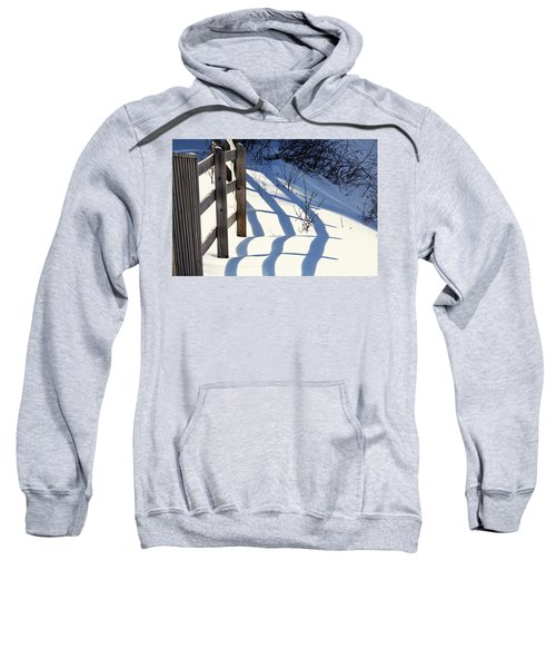 Snow, Sun And Shadows Sweatshirt