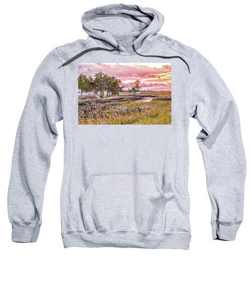 Snow Sunset -marsh View Sweatshirt