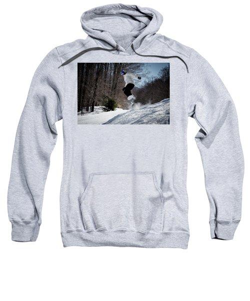 Sweatshirt featuring the photograph Snowboarding Mccauley Mountain by David Patterson