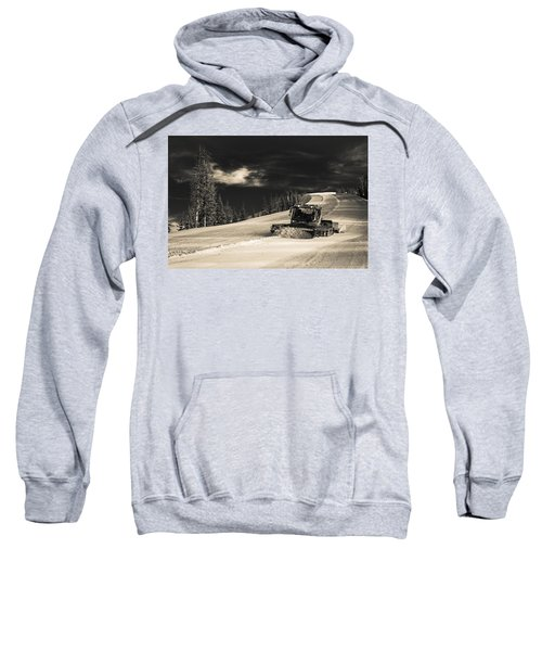 Sweatshirt featuring the photograph Snowcat by Stephen Holst