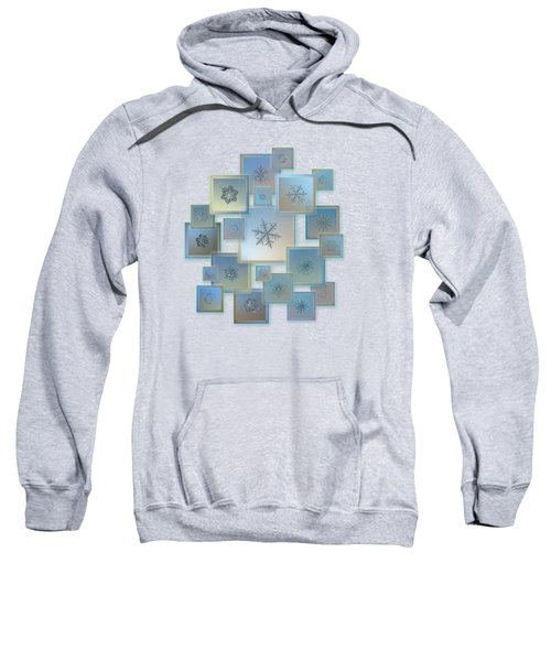 Snowflake Collage - Bright Crystals 2012-2014 Sweatshirt