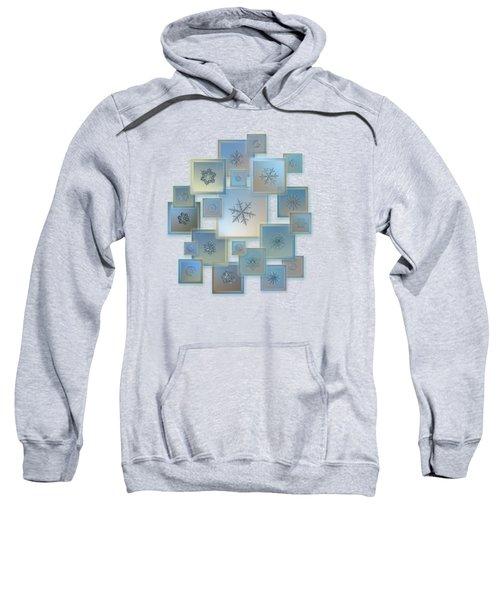Snowflake Collage - Bright Crystals 2012-2014 Sweatshirt